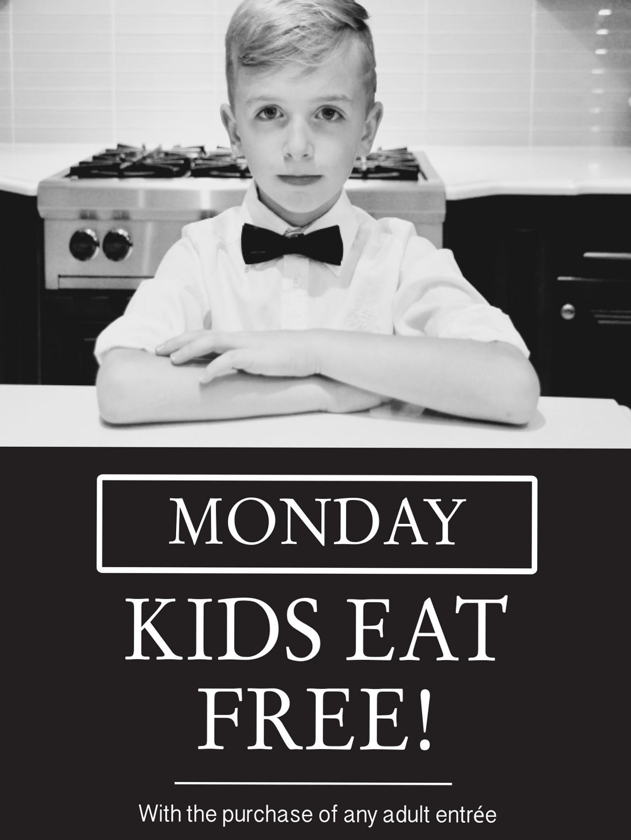Promotional image for Monday Kids Eat Free